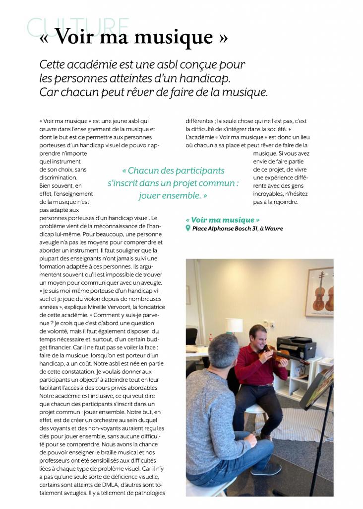 article bonjour Wavre